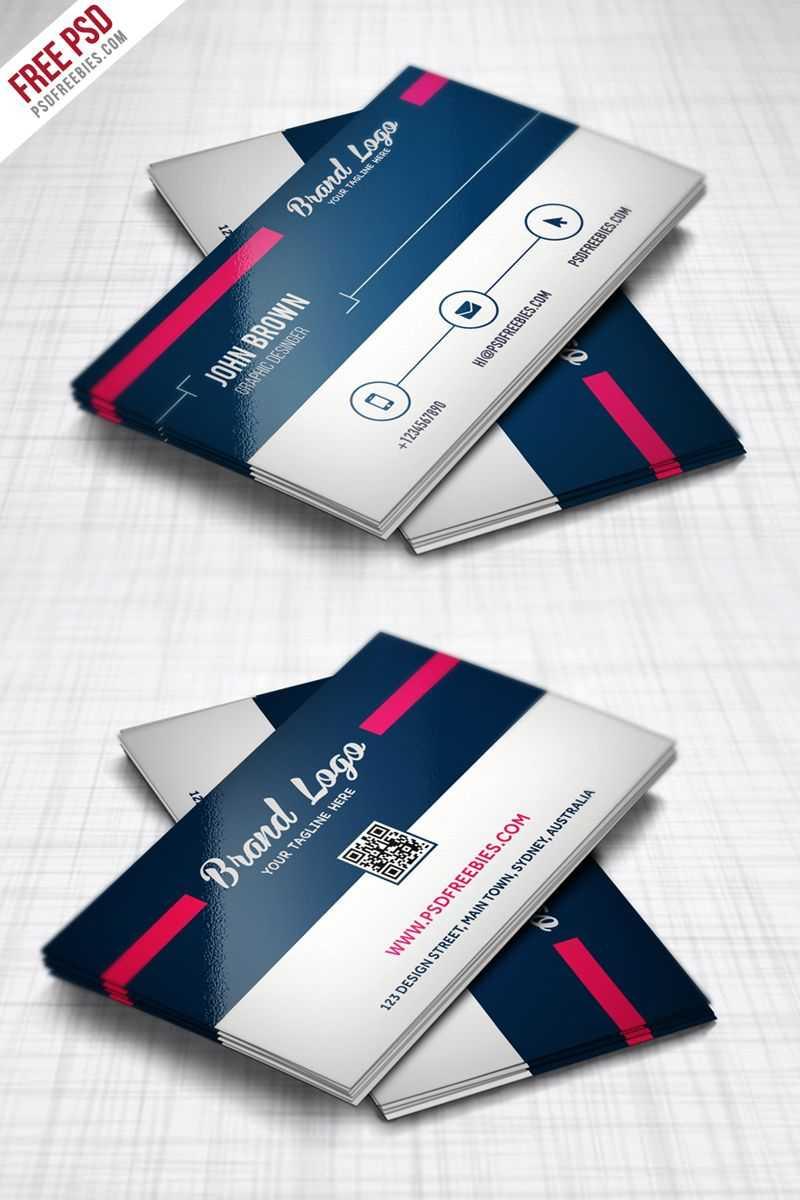 Modern Business Card Design Template Free Psd   Modern With Professional Business Card Templates Free Download