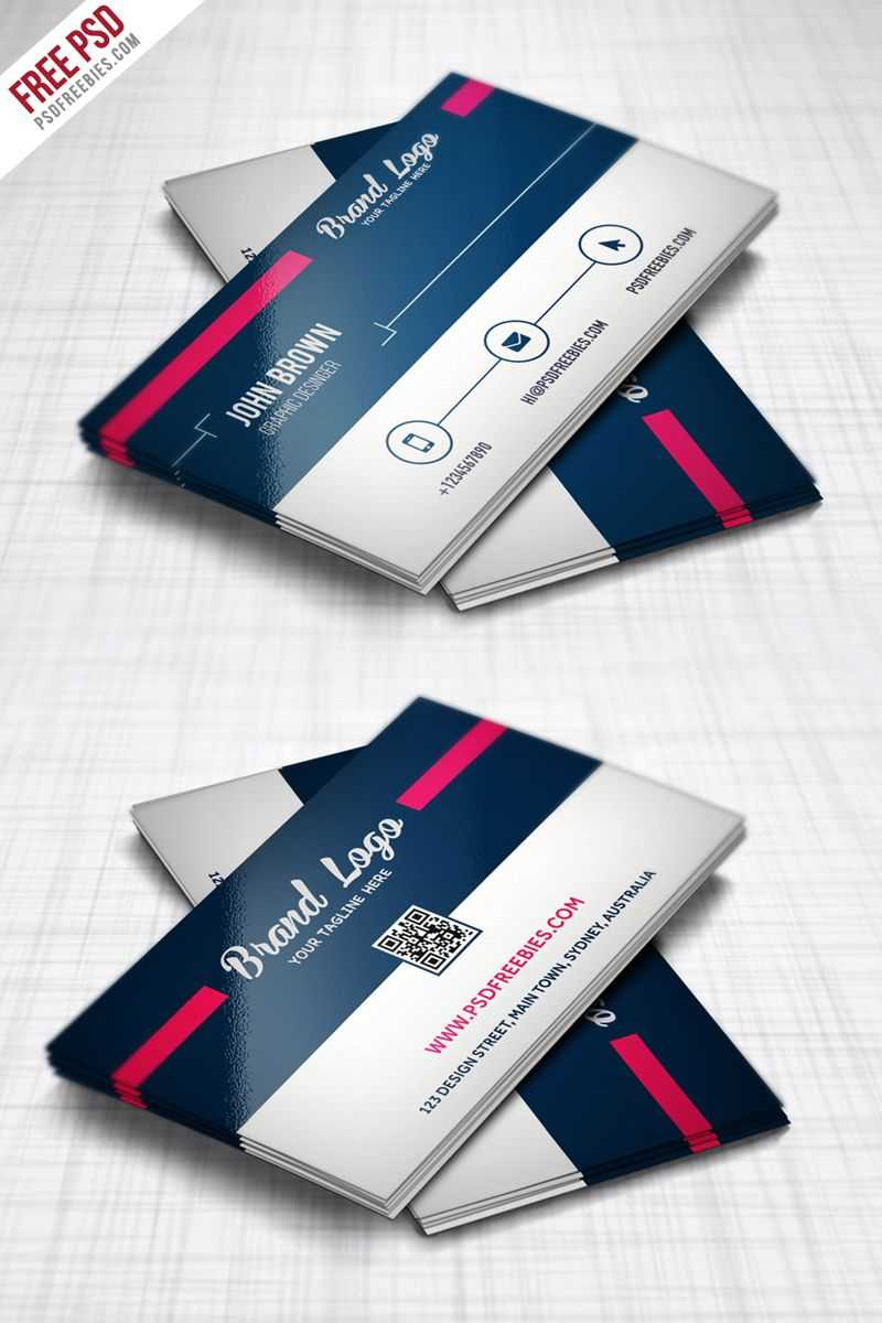 Modern Business Card Design Template Free Psd | Modern Within Modern Business Card Design Templates