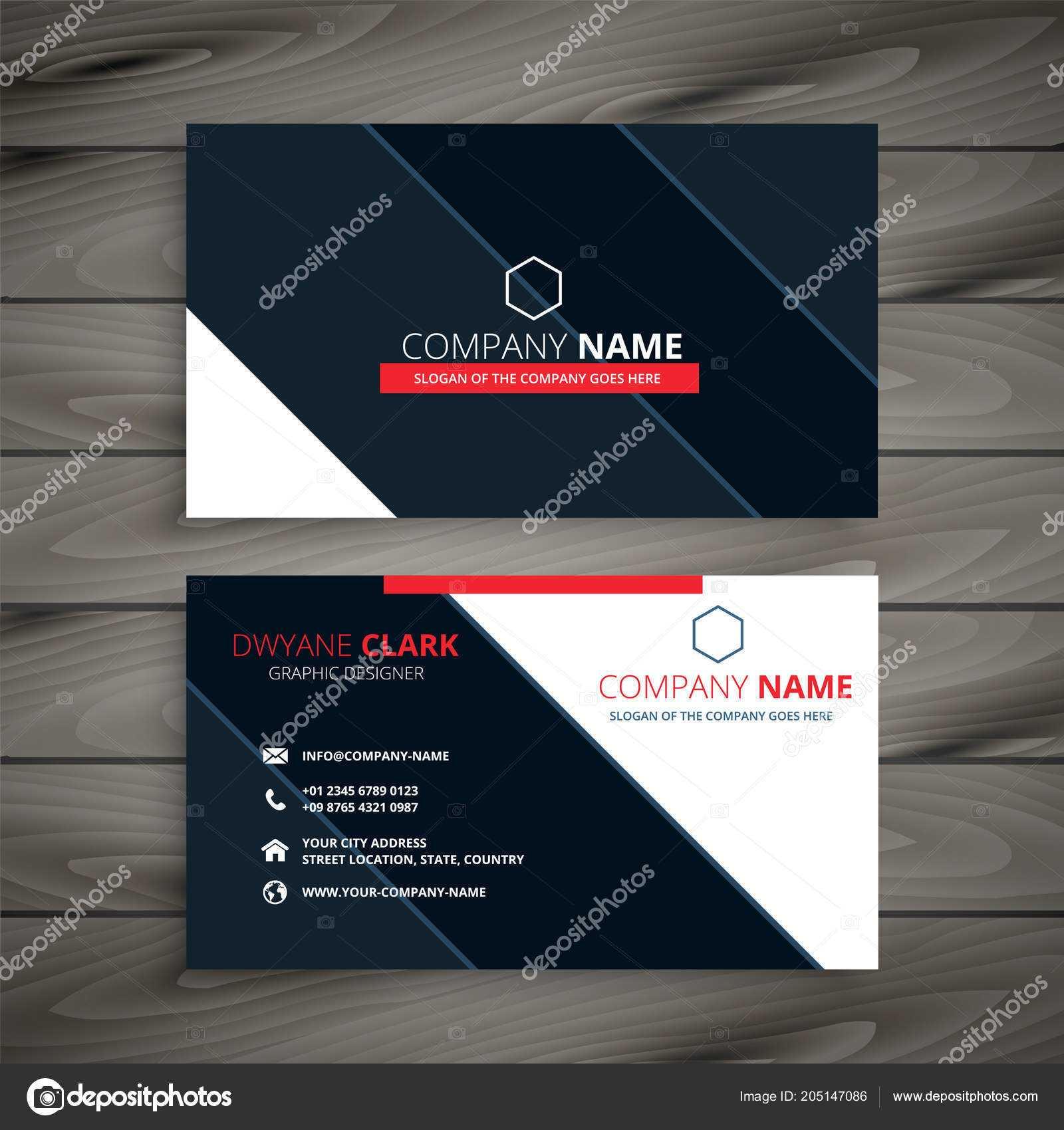 Modern Business Card Design Template — Stock Vector Intended For Modern Business Card Design Templates