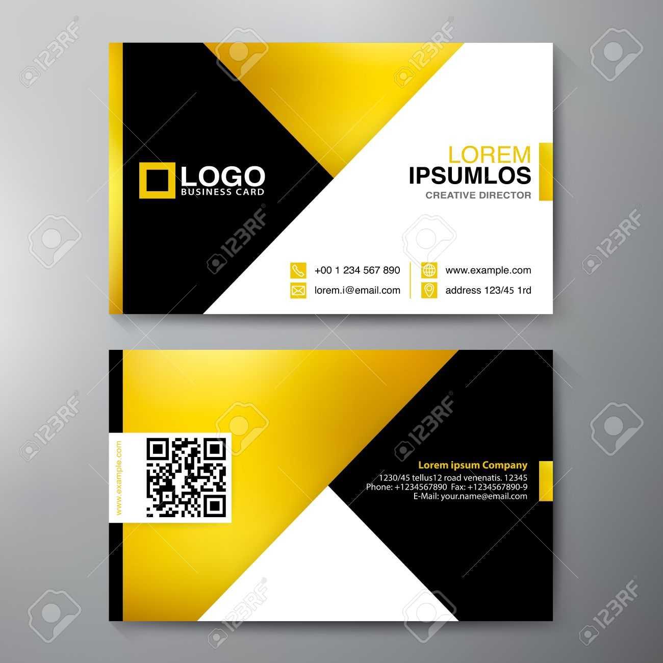 Modern Business Card Design Template. Vector Illustration Pertaining To Modern Business Card Design Templates
