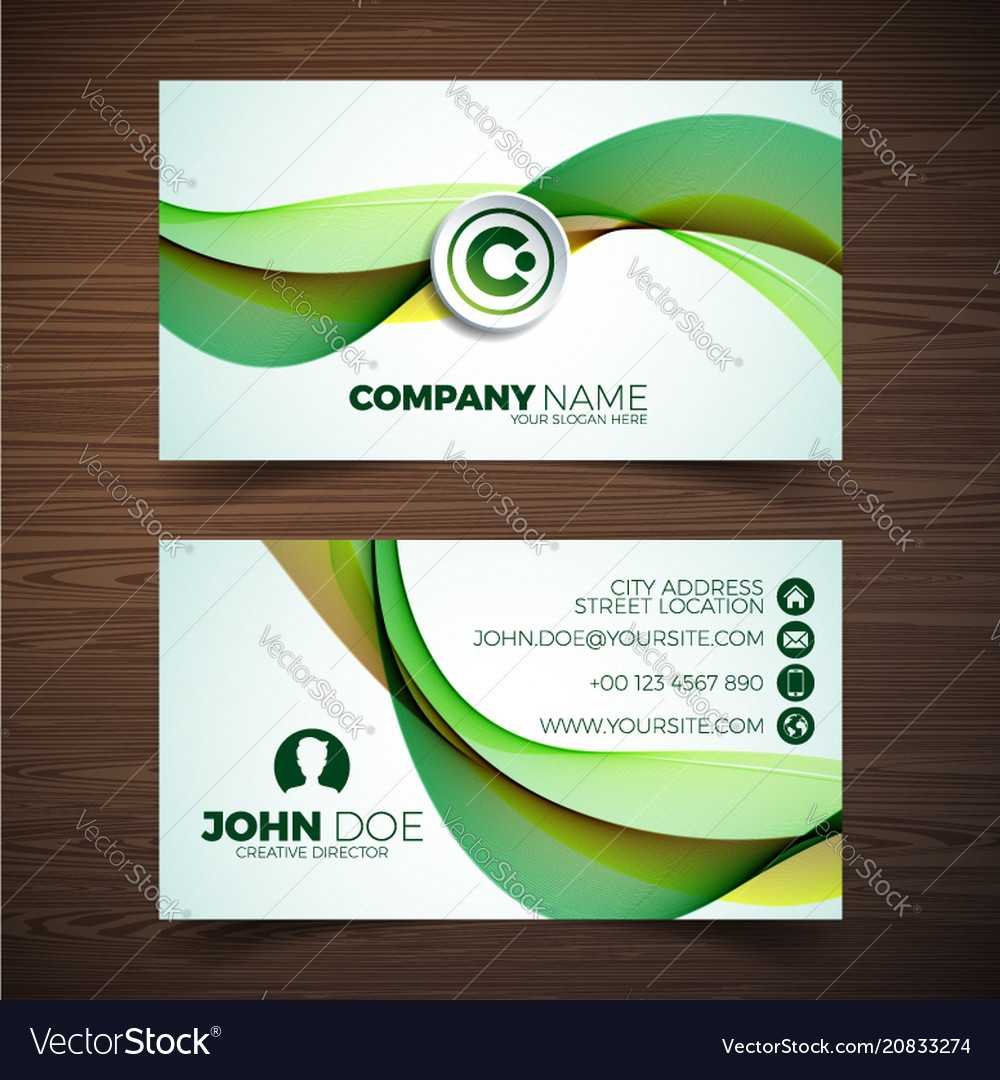 Modern Business Card Design Template With For Modern Business Card Design Templates