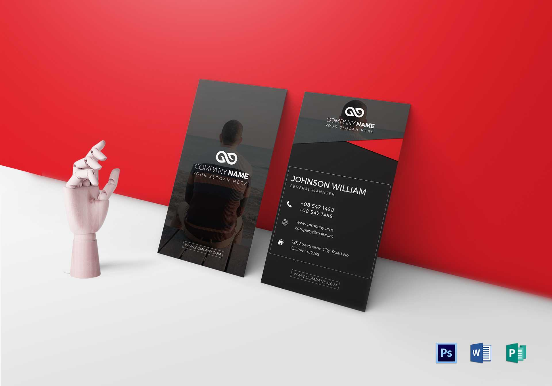 Modern Business Card Template Intended For Modern Business Card Design Templates