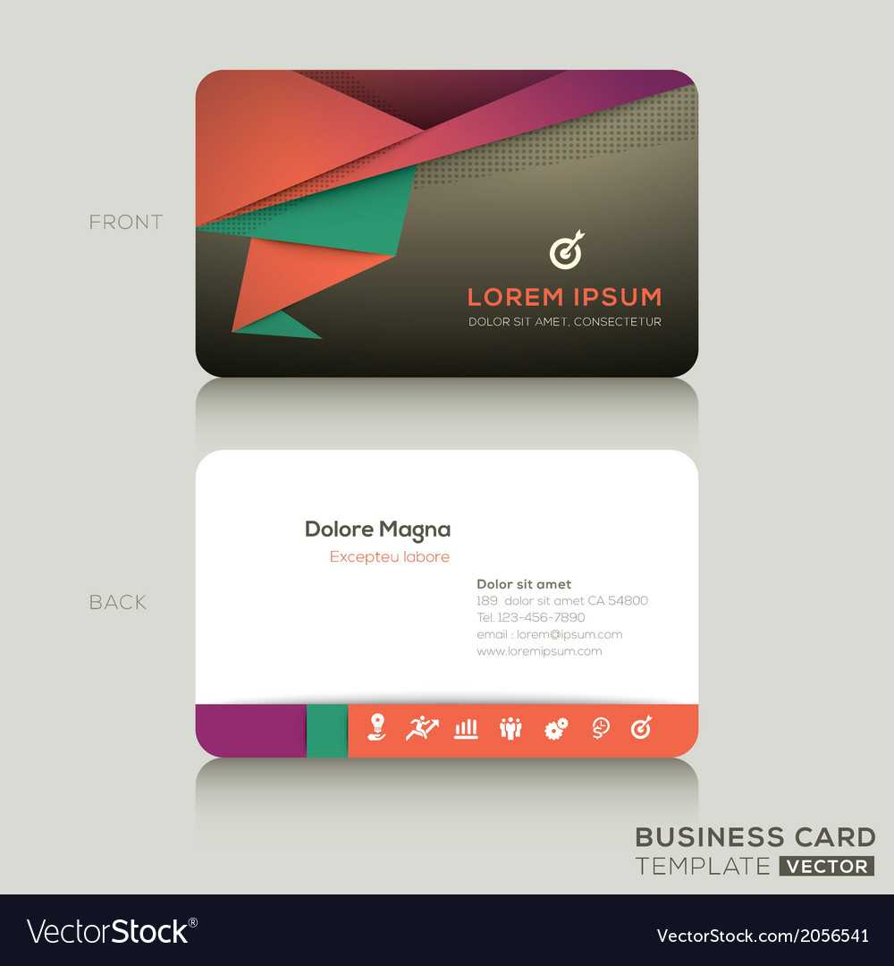 Modern Business Cards Design Template With Modern Business Card Design Templates