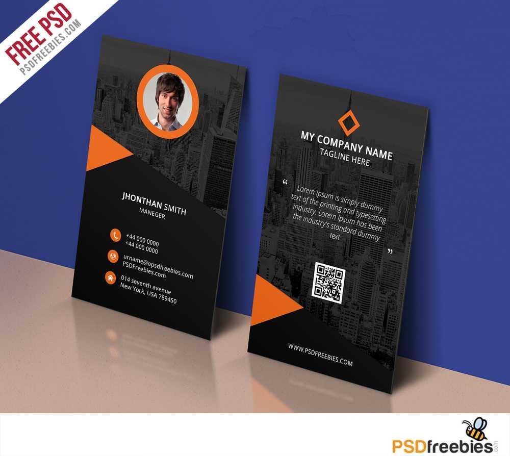 Modern Corporate Business Card Template Free Psd in Name Card Design Template Psd