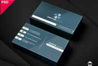 Modern Corporate Business Card Template | Psddaddy Inside Unique Business Card Templates Free