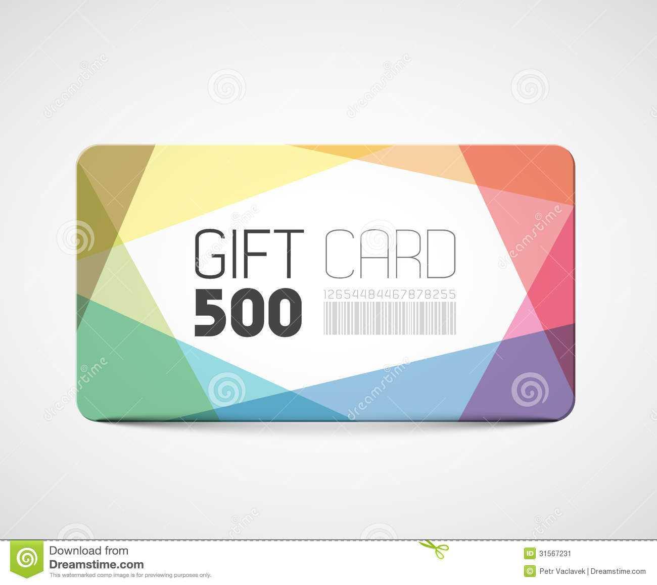 Modern Gift Card Template Stock Vector. Illustration Of With Regard To Gift Card Template Illustrator