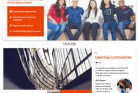 Modern Orange College Tri Fold Brochure Template for Student Brochure Template