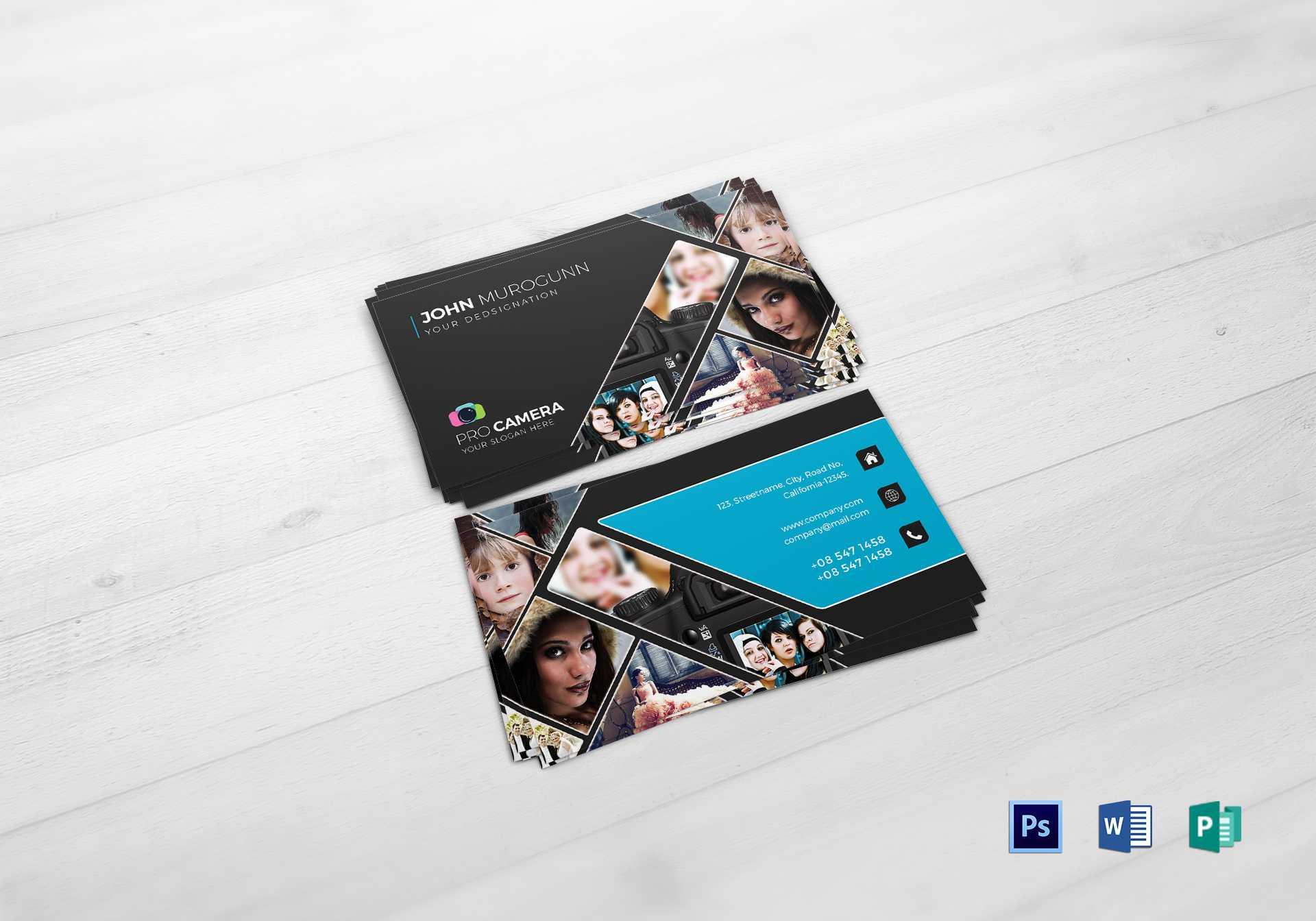 Modern Photography Business Card Template throughout Photography Business Card Template Photoshop