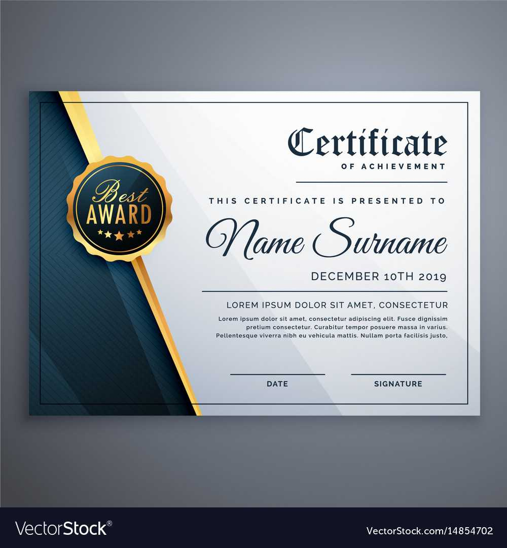 Modern Premium Certificate Award Design Template Regarding Award Certificate Design Template