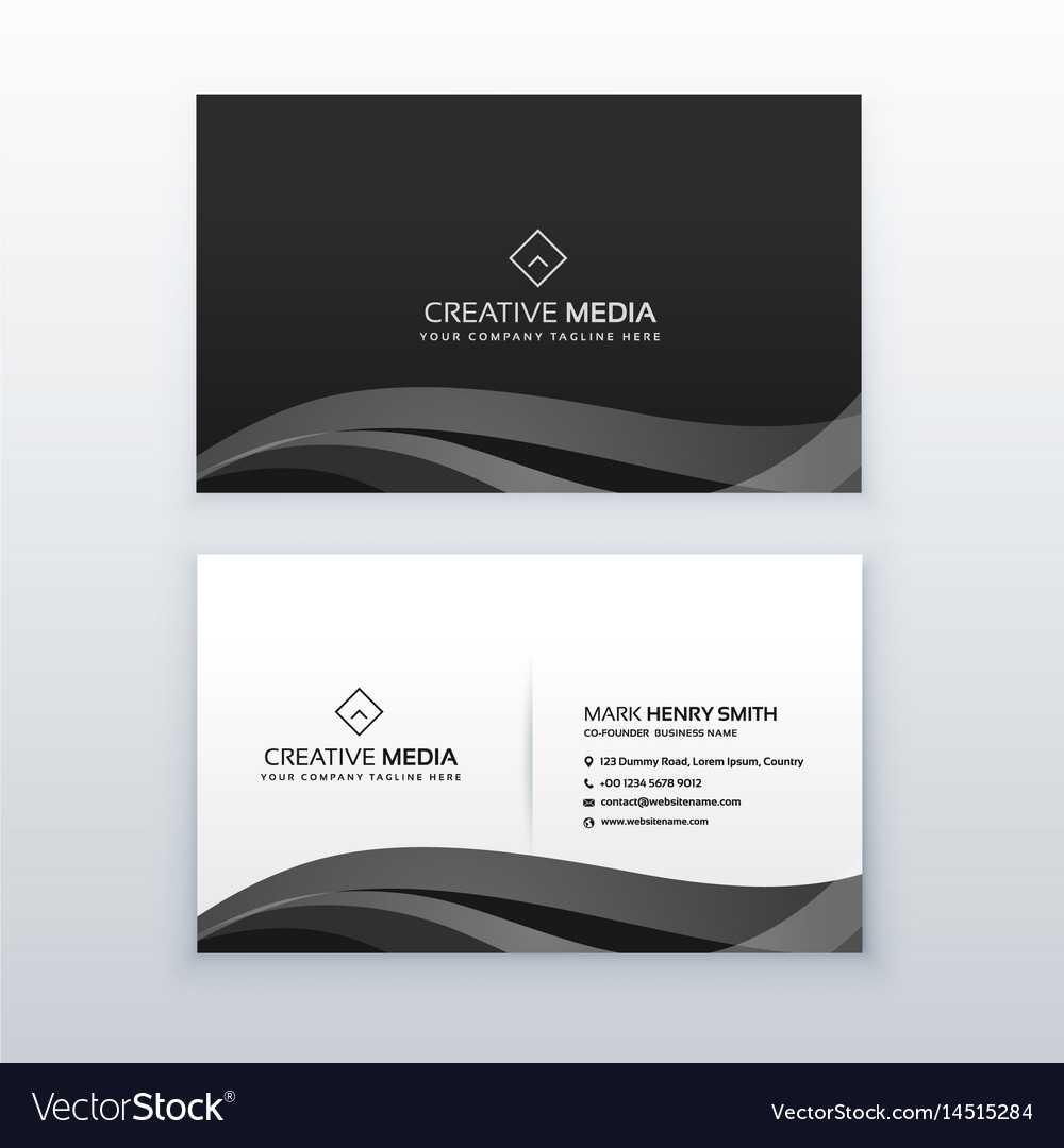 Modern Professional Dark Business Card Design For Modern Business Card Design Templates