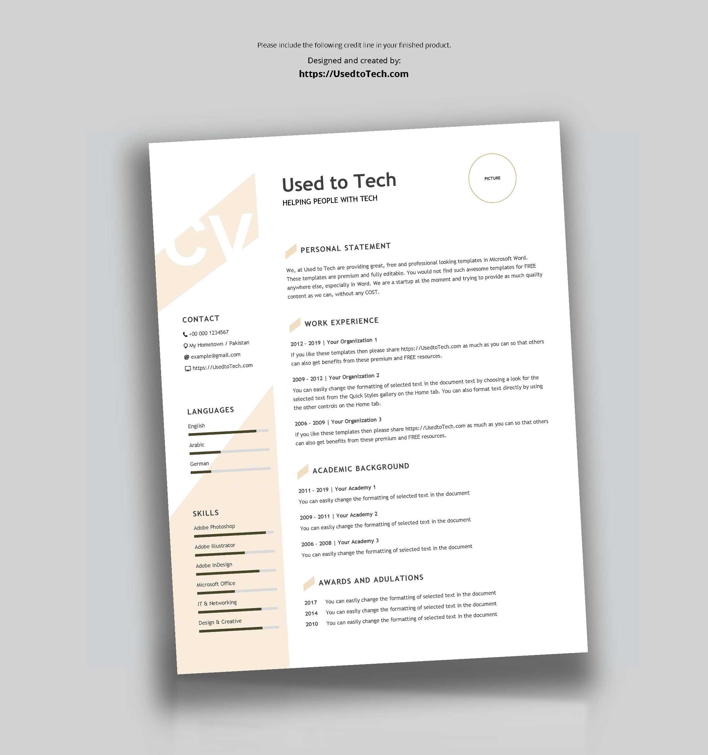 Modern Resume Template In Word Free - Used To Tech Inside How To Find A Resume Template On Word