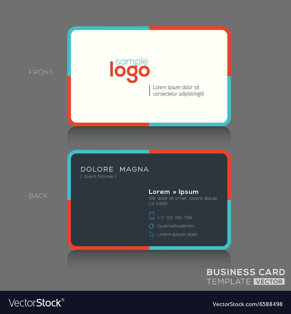 Modern Simple Business Card Design Template Pertaining To Modern Business Card Design Templates