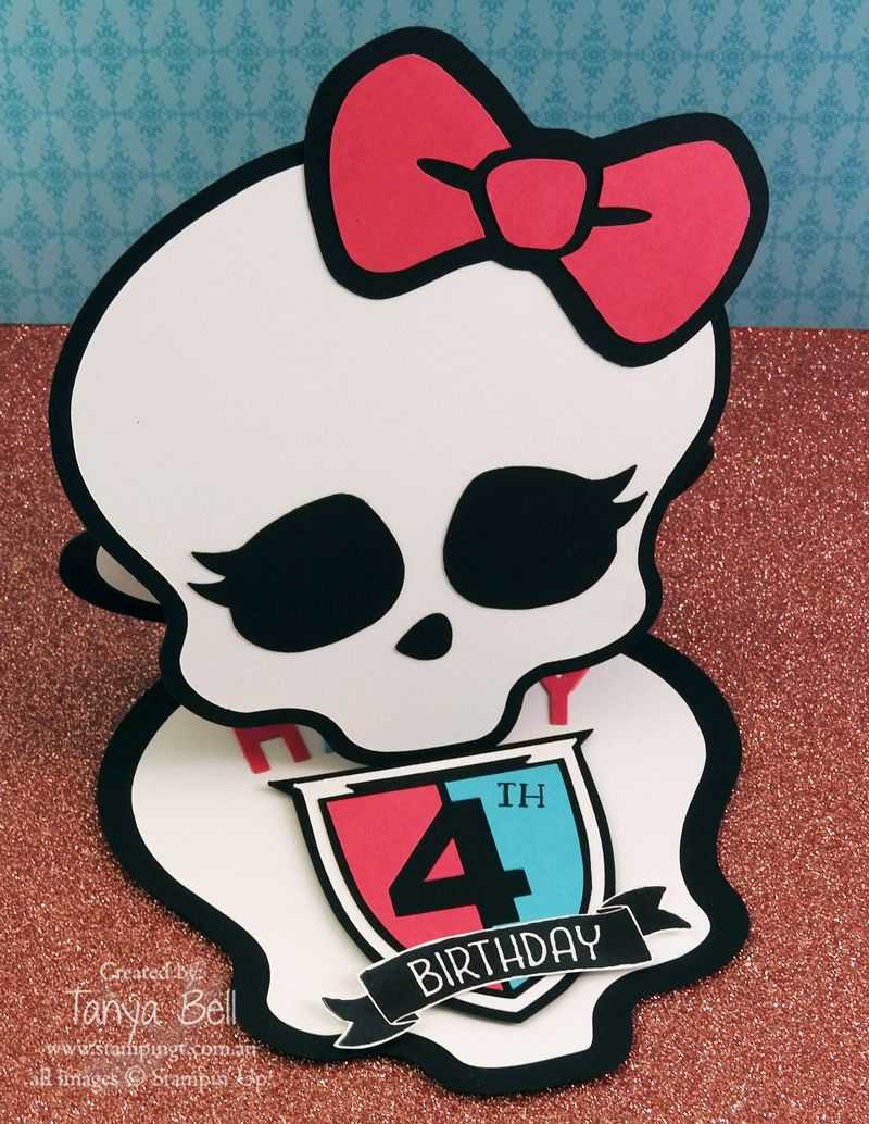Monster High Birthday Card -Free Template | Cards-Happy pertaining to Monster High Birthday Card Template