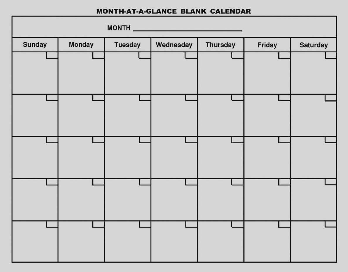 Month At A Glance Blank Calendar Template - Free Calendar throughout Month At A Glance Blank Calendar Template