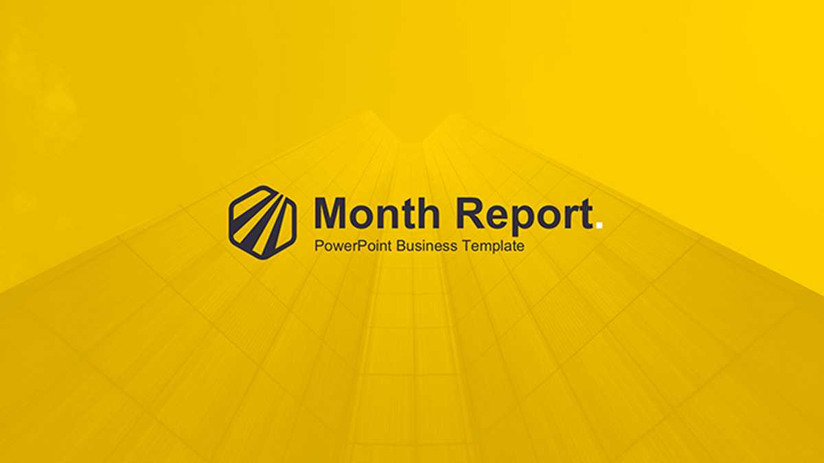 Month Report Powerpoint Template Within Monthly Report Template Ppt