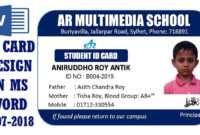 Ms Word Tutorial: How To Make Easy Student Id Card Design In Ms Word  2016|Two Part Id Card Design within Free Id Card Template Word