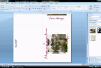 Ms Word Tutorial (Part 2) – Greeting Card Template for Birthday Card Template Microsoft Word