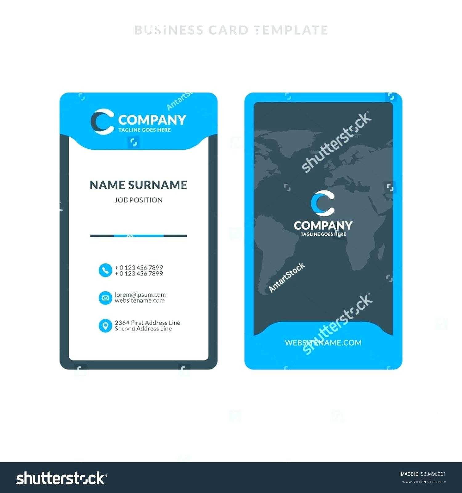 Multipurpose Business Id Card Template – Wovensheet.co in Id Badge Template Word