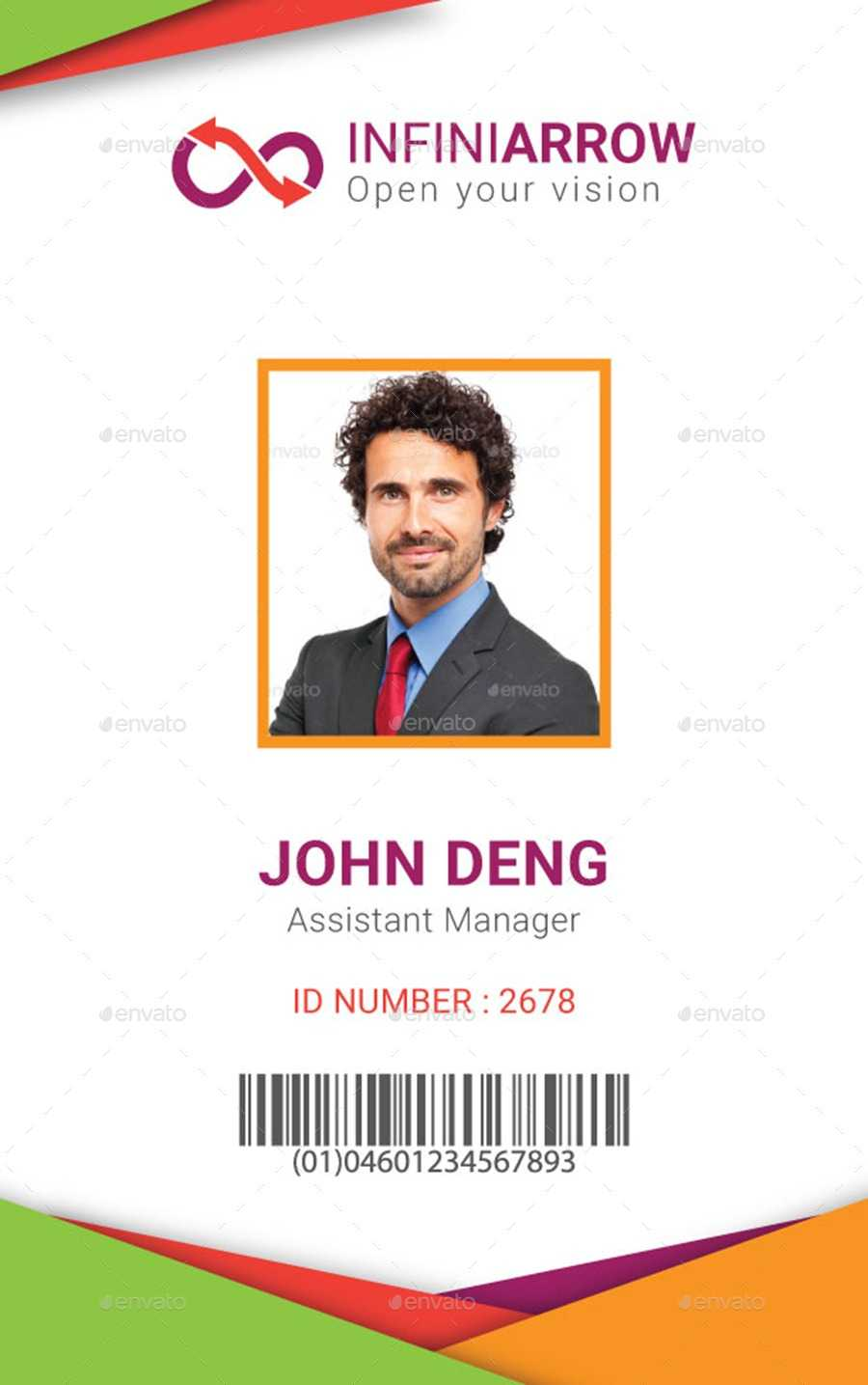 Multipurpose Business Id Card Templatedotnpix | Graphicriver With Sample Of Id Card Template