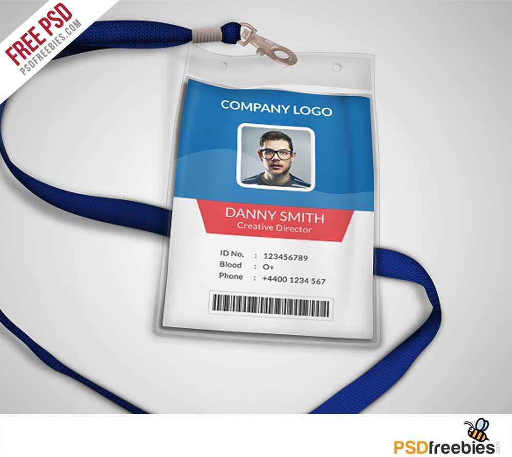 Multipurpose Company Id Card Free Psd Template | Psdfreebies With Template For Id Card Free Download