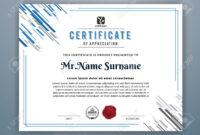 Multipurpose Modern Professional Certificate Template Design.. with regard to Design A Certificate Template