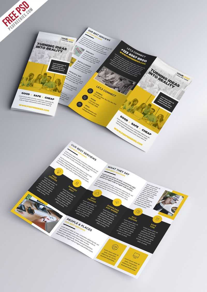 Multipurpose Tri-Fold Brochure Psd Template | Abundant regarding Brochure Psd Template 3 Fold
