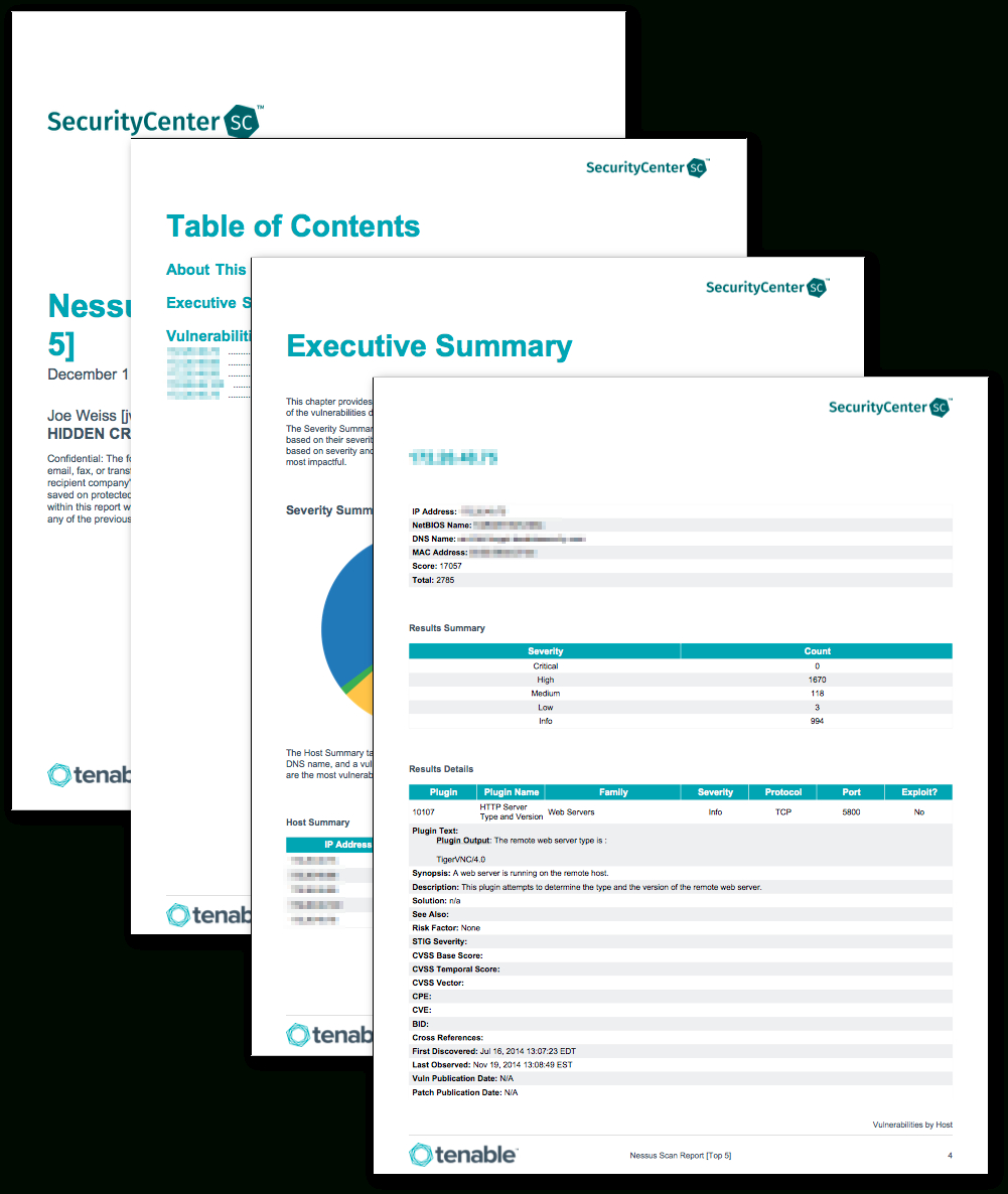 Nessus Scan Report (Top 5) - Sc Report Template | Tenable® Within Nessus Report Templates