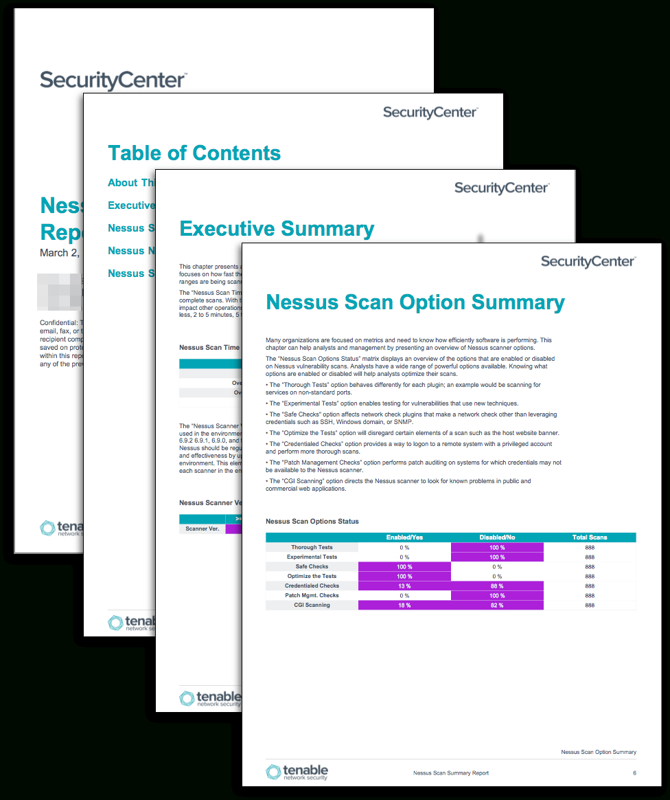 Nessus Scan Summary Report - Sc Report Template | Tenable® Within Nessus Report Templates