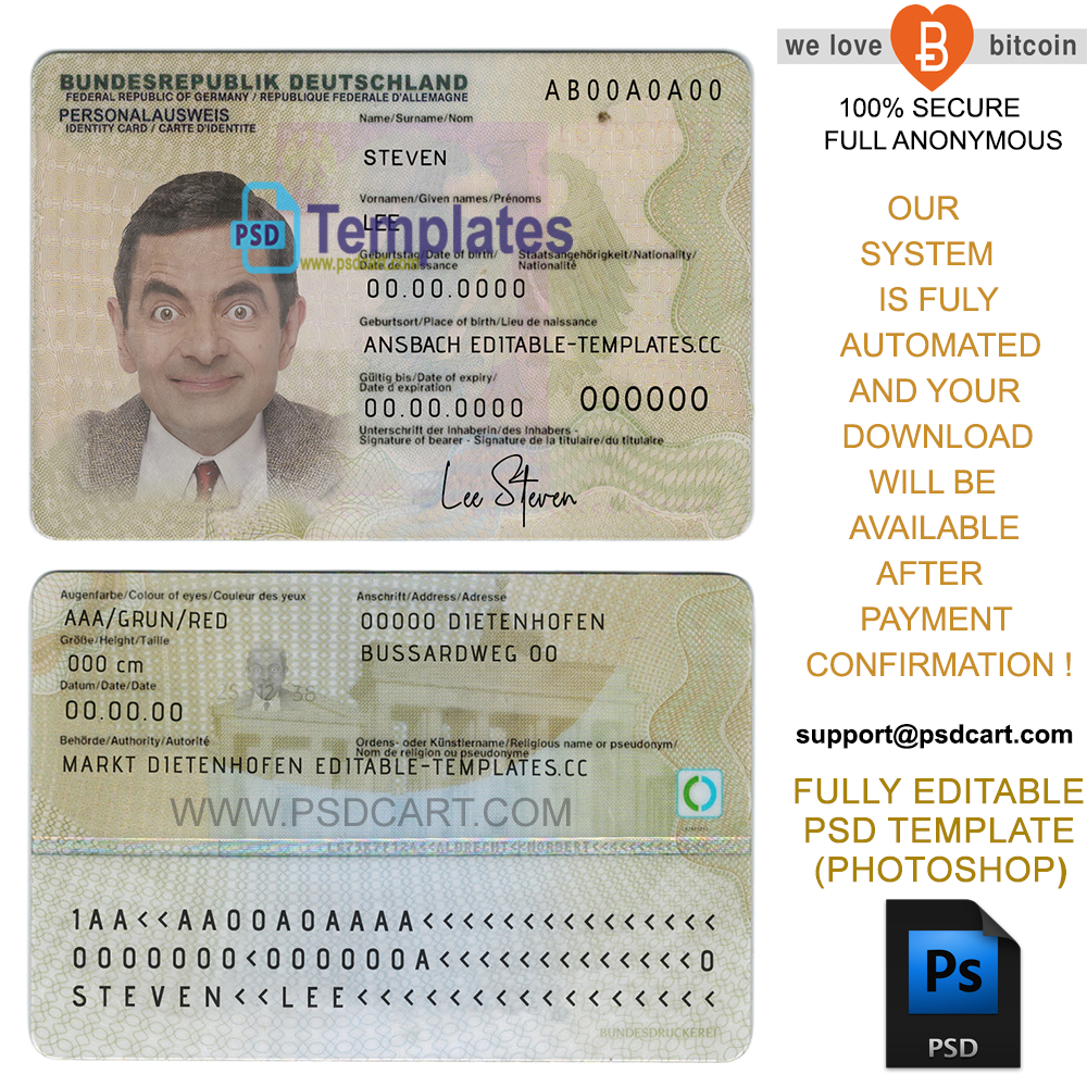New 2019 Editable Id Card Templates | Business Letters Blog with Georgia Id Card Template
