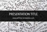 Newspaper Powerpoint Template Is Free Template That You Can throughout Newspaper Template For Powerpoint