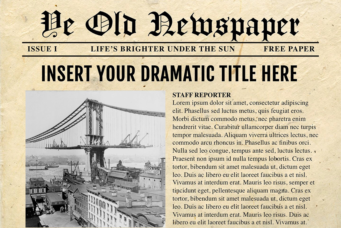 Newspaper Template For Powerpoint - Vsual Intended For Newspaper Template For Powerpoint