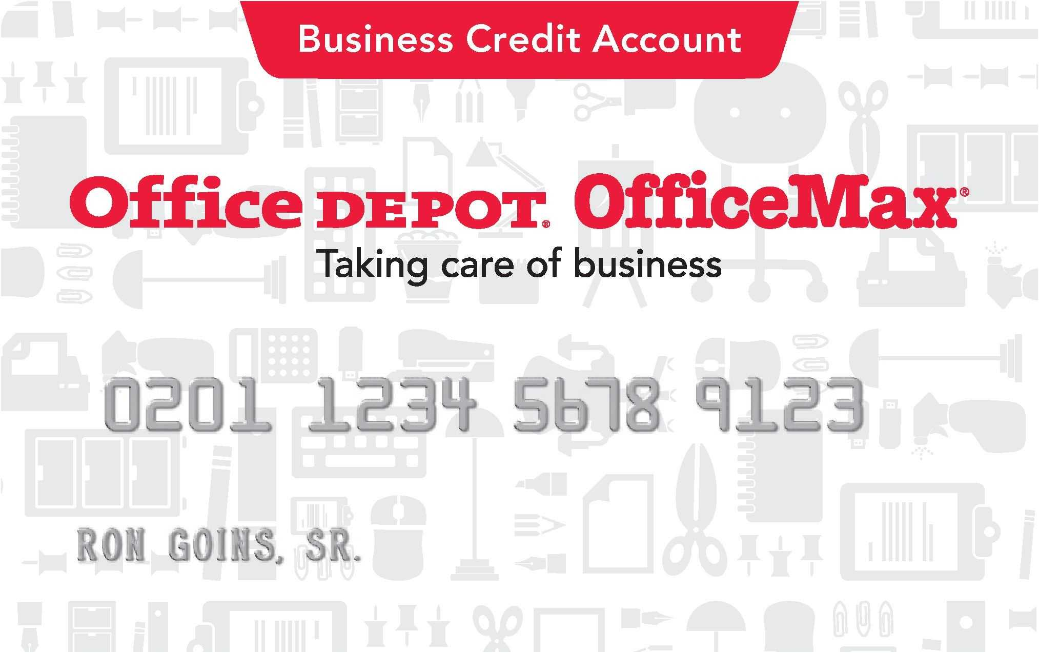 Office Depot Credit Card | School | Office Depot, Business pertaining to Office Max Business Card Template