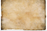 Old Blank Parchment Treasure Map Isolated. Clipping Path Is within Blank Pirate Map Template