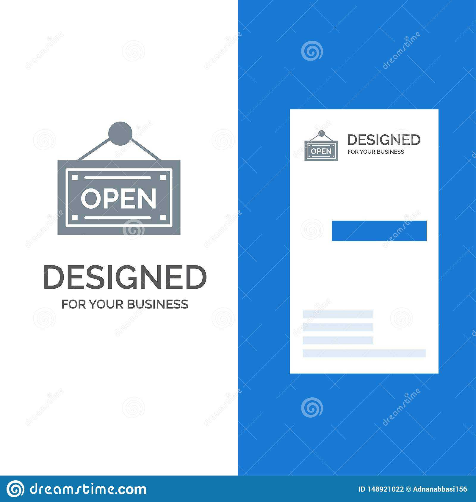 Open, Shop, Board Grey Logo Design And Business Card with regard to Business Card Template Open Office