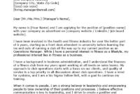 Operations Manager Cover Letter Example | Resume Genius intended for Operations Manager Report Template