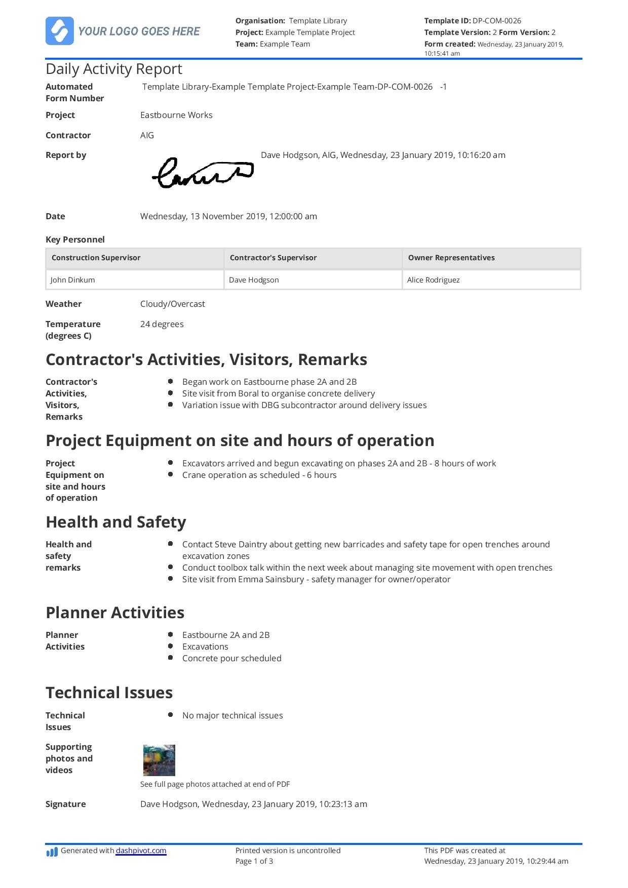 Operations Manager Report Template - Atlantaauctionco within Operations Manager Report Template