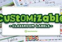 Our Most Popular Customisable Classroom Labels, Signs & Displays pertaining to Classroom Banner Template