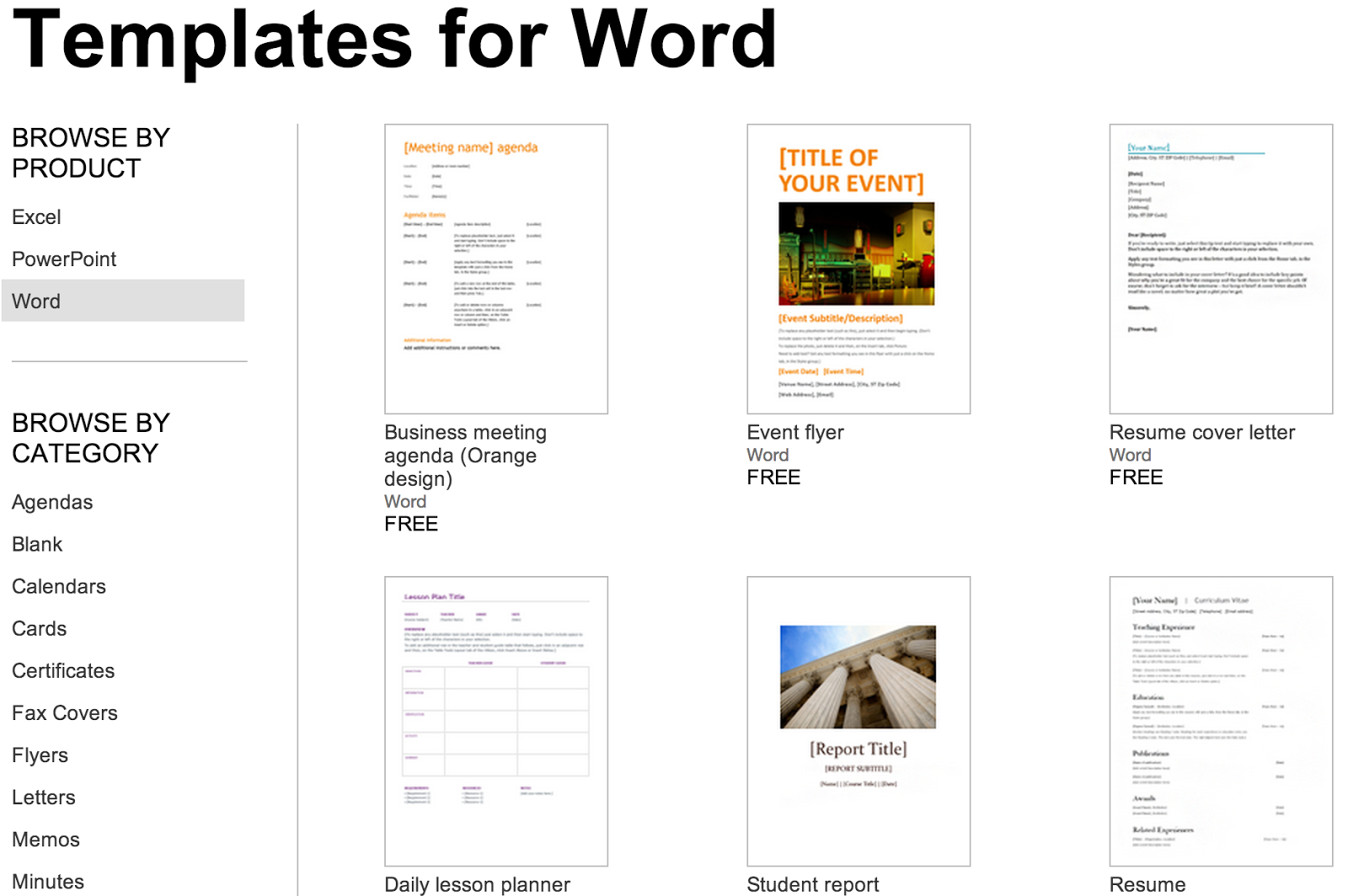 Over 250 Free Microsoft Office Templates & Documents with regard to How To Create A Book Template In Word