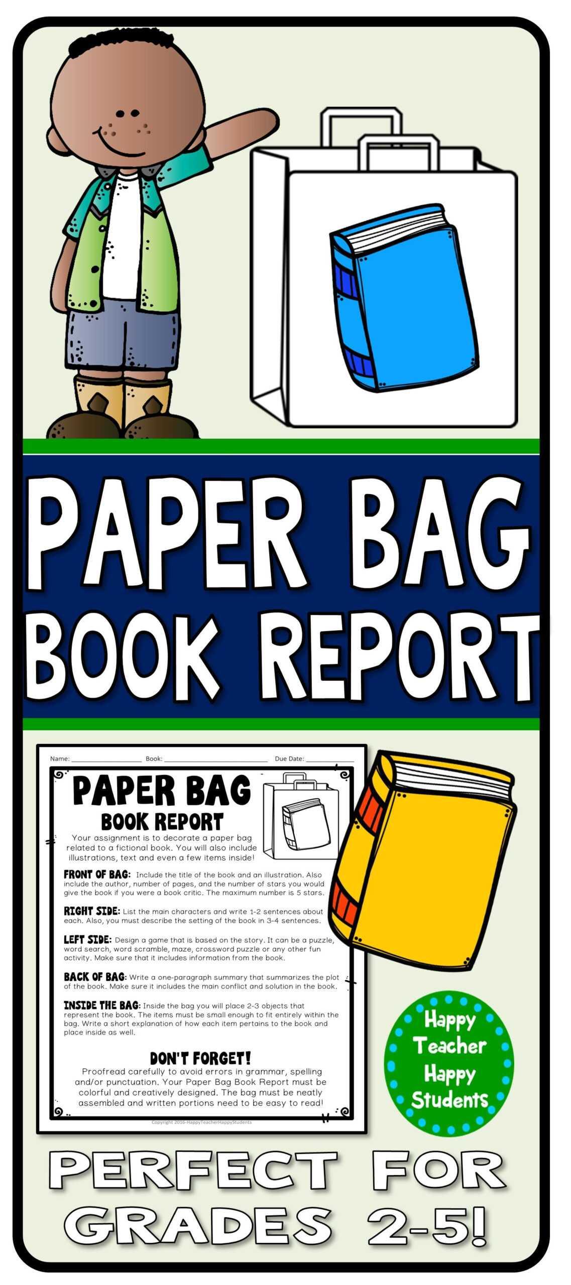 Paper Bag Book Report: Decorate A Paper Bag Based On A In Paper Bag Book Report Template