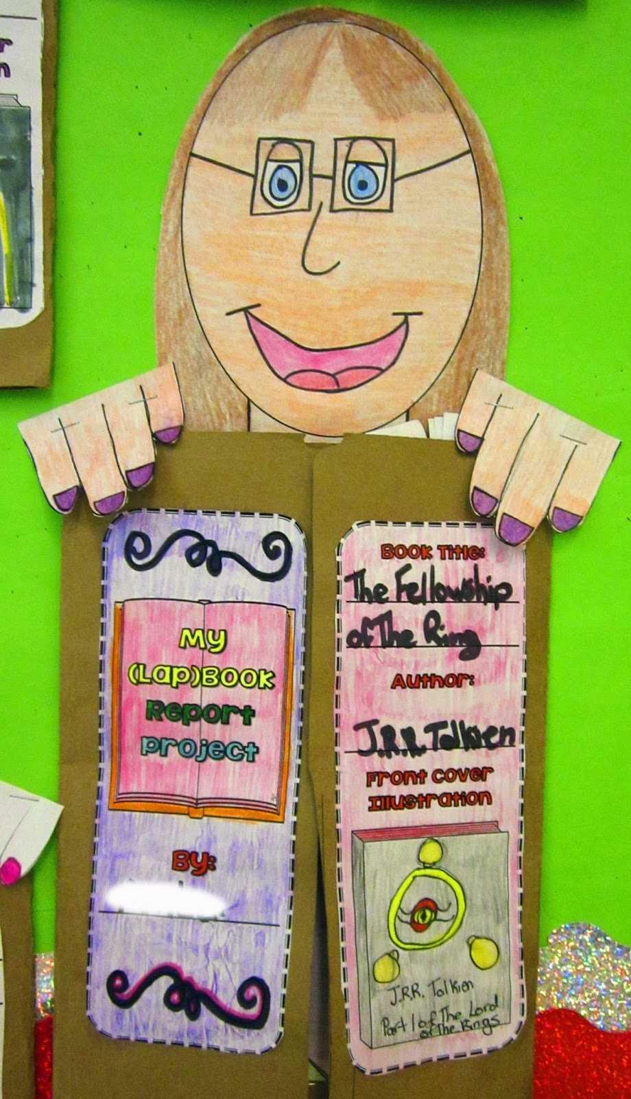 Paper Bag Book Report Template - Atlantaauctionco for Paper Bag Book Report Template