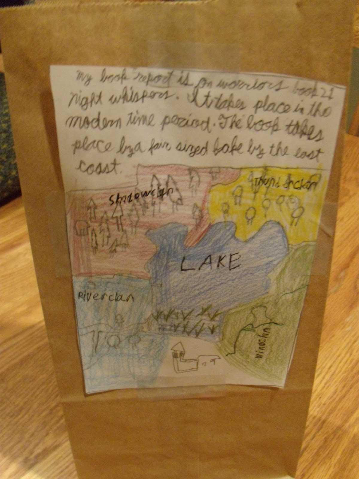 Paper Bag Book Report Template – Gabisa within Paper Bag Book Report Template