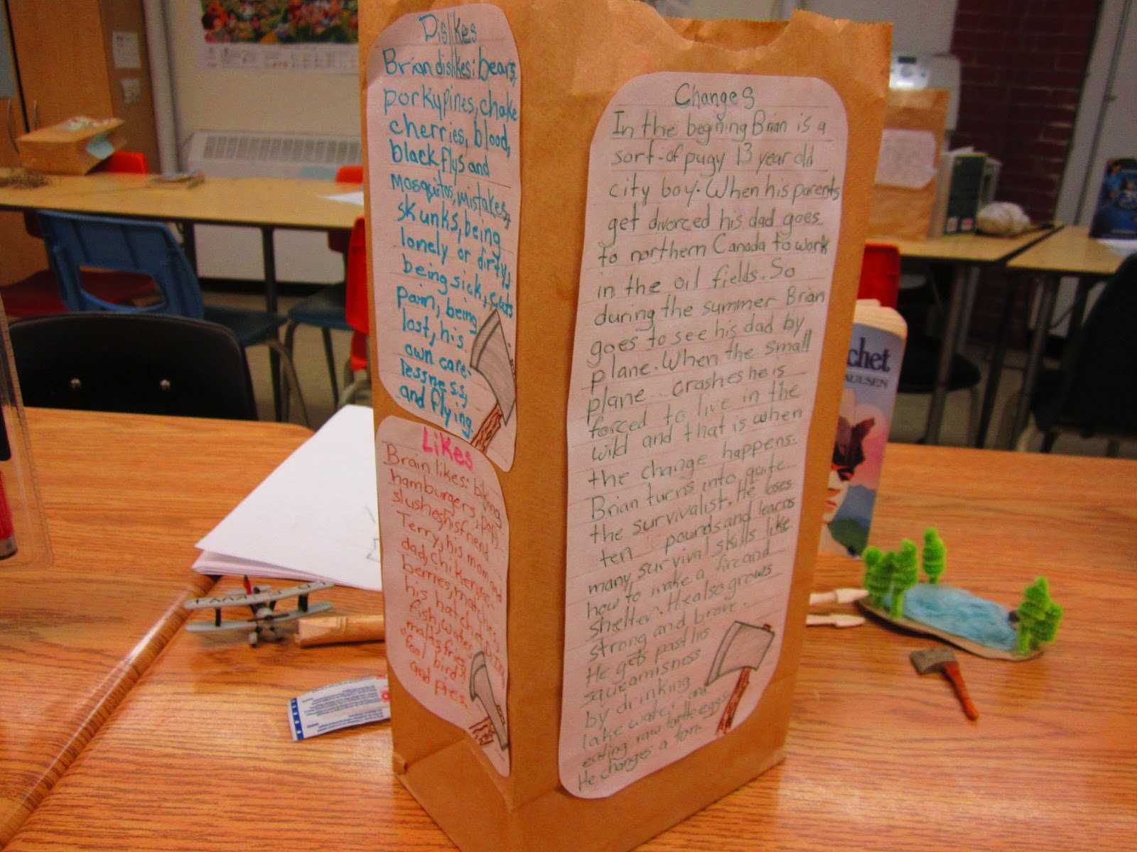 Paper Bag Characterization | Runde's Room for Paper Bag Book Report Template