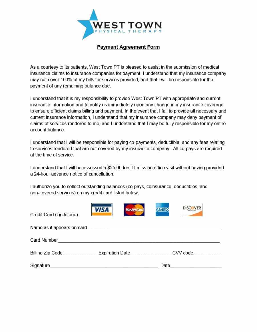 Payment Agreement - 40 Templates & Contracts ᐅ Template Lab within Credit Card Payment Plan Template