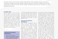 Pdf) Methods Of Data Collection In Qualitative Research intended for Focus Group Discussion Report Template