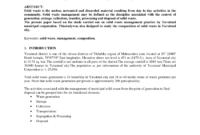 Pdf) Solid Waste Management -Case Study inside Waste Management Report Template