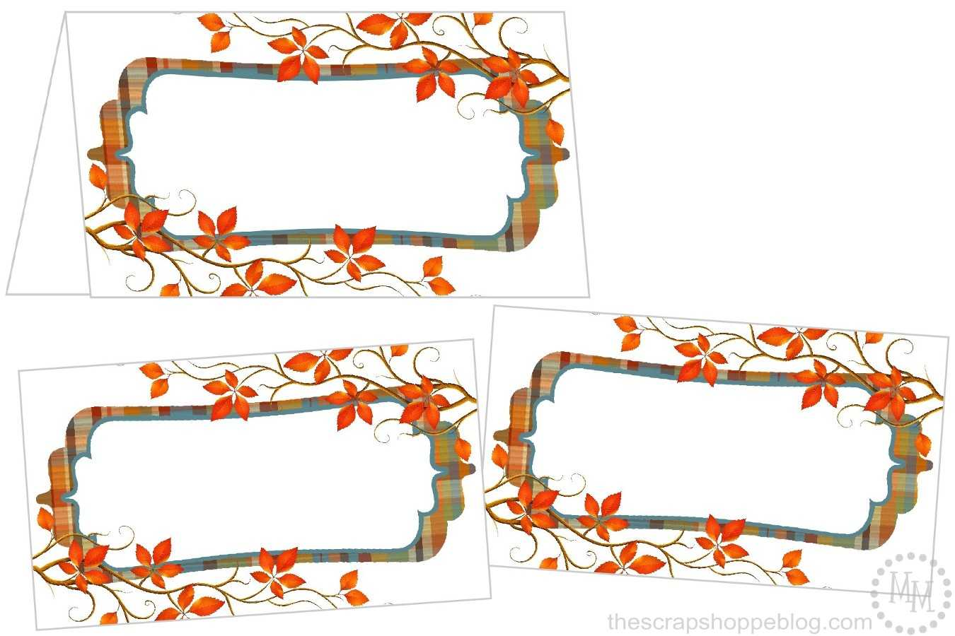 Perfectly Plaid Thanksgiving Place Cards - The Scrap Shoppe For Thanksgiving Place Card Templates