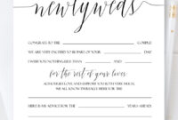 Personalized Newlyweds Advice Cards, Script Wedding Advice throughout Marriage Advice Cards Templates