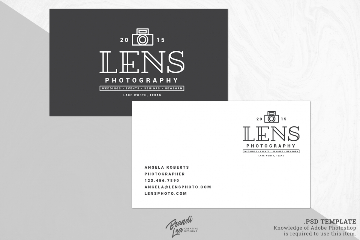 Photography Business Card Template pertaining to Photography Business Card Template Photoshop