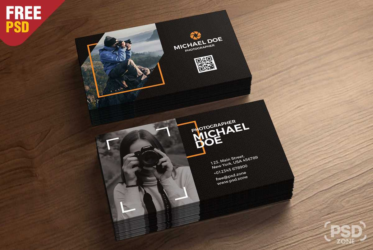 Photography Business Cards Template Psd - Psd Zone Regarding Free Business Card Templates For Photographers