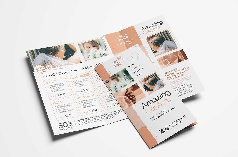 Photography Service Tri Fold Brochure Template – Psd, Vector With 2 Fold Brochure Template Psd